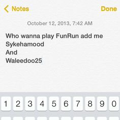 A different way to inviting friends to play #funrun