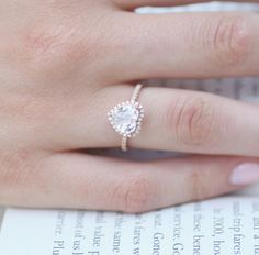 How pretty is this heart engagement ring?