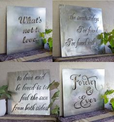 Custom Metal Quote Sign and Sayings, Inspirational Personalized Sign, Steel Wall Art Decor - Tischdeko Frühling Metal Tree Wall Art, Metal Art, Country House Design, Metal Projects, Metal Crafts, Art Projects, All Family, Steel Wall, Personalized Signs