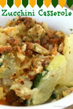 Zucchini Casserole | FOODIEaholic.com #recipe #cooking #baking #casserole #onedish #zucchini #vegetables
