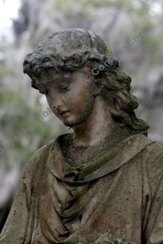This is a beautiful Fine Art Photograph of a moss covered cemetery statue in Bonaventure Cemetery in Thunderbolt, GA  Photo by Bayside Phoyography. http://www.artfire.com/ext/shop/studio/BaysidePhotography