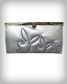 12.98 Playboy Bunny Head Stitched Flip Lock Wallet