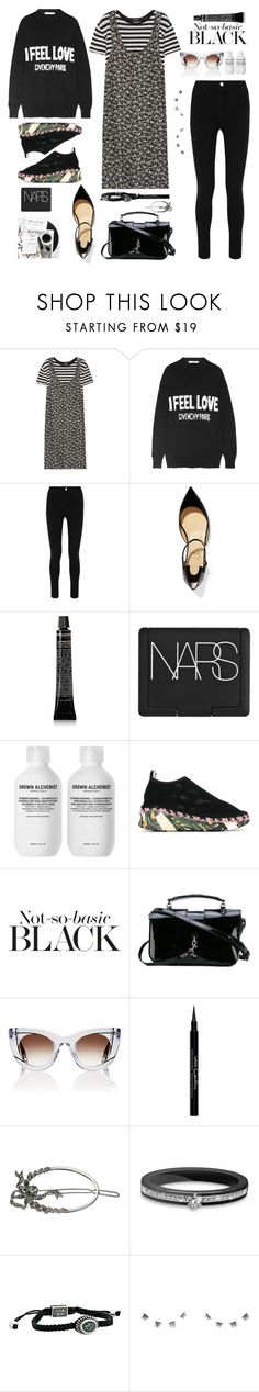 """""""Fall back black... (T.S )"""" by sue-mes ❤ liked on Polyvore featuring R13, Givenchy, Christian Louboutin, Grown Alchemist, NARS Cosmetics, Kenzo, Yves Saint Laurent, Thierry Lasry, Simply Vera and King Baby Studio"""