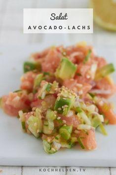 Avocado-Lachs-Salat - www.tv appetizers for dinner Der gesündeste Salat der Welt - Avocado-Lachs-Salat Seafood Appetizers, Appetizer Recipes, Simple Appetizers, Cheese Appetizers, Party Appetizers, Dinner Recipes, Shrimp Recipes, Salmon Recipes, Broccoli Recipes
