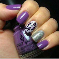 Viola argento e leopardato