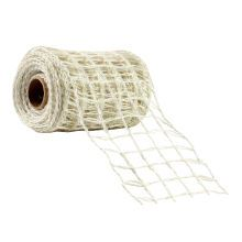 Celebrate It Occasions Wired Jute Ribbon, White