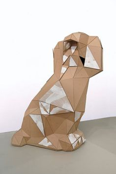 Toby Ziegler, The Liberals (3rd Version), 2008, Cardboard, gesso and pins, Part 1: 323 x 220 x 120 cm Part 2: 279 x 220 x 105 cm