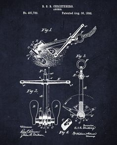 Patent Artwork for anchors | Anchor Patent Wall Art - Nautical Patent Art Canvas or Print- Digital ...