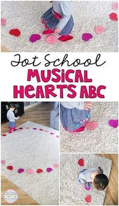 Get moving and learning with this musical heart game. Perfect for learning letters and sounds in tot school, preschool, or the kindergarten classroom.