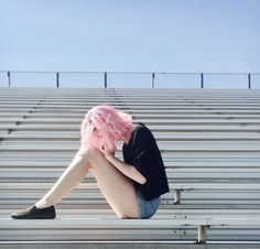 """The bleachers calm me down. Because I imagine I'm in a crowd. And my heart beat can't be heard, over a single world."""