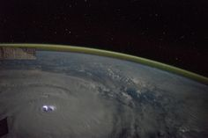 This photo, taken on Jan. 12, 2015, shows Cyclone Bansi from the International Space Station. Lightning Flash, Photos Of Eyes, Image Of The Day, Space Photos, International Space Station, Astronaut, Airplane View, Nasa, Cosmos