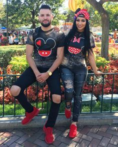 Matching Mickey-Minnie tshirts