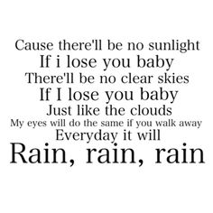 It Will Rain - Bruno Mars  This is my favorite song of all times!!!! My alarm!!!