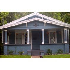 House color smoky azurite sherwin williams home sweet home pinterest house colors for Exterior house painting jacksonville fl