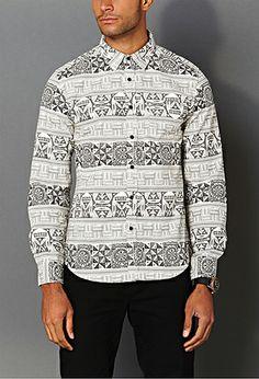 Tribal Print Slim Fit Shirt | 21 MEN - 2000129476