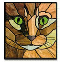 cat stained glass  | Free Pattern, Kitty Face