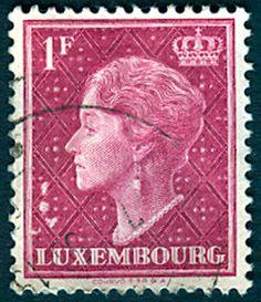 Timbre collection rare Grand-Duché de Luxembourg Grande-Duchesse Charlotte 1 franc