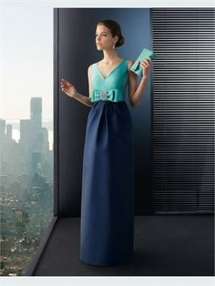 Column V-Neck Satin 2014 Prom dresses PPD0145   Wish i had daughter to buy this for!!! So cute!!