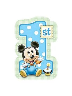 Baby Mickey Mouse 1St Birthday Invitations (8) Invites Disney Party Supplies, 2015 Amazon Top Rated Invitations & Cards #Toy