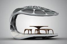 Zaha Hadid Launches Volun Dining Pavillion at Design Miami Zaha Hadid Design, Architecture Design, Chinese Architecture, Futuristic Architecture, Pavilion Architecture, Architecture Office, Futuristic Design, Arquitetos Zaha Hadid, Zaha Hadid Architektur