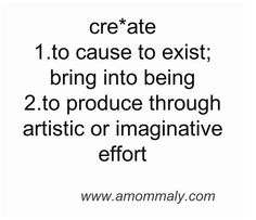 create something - one a month! a DIY, a journal entry, a song! Make something!