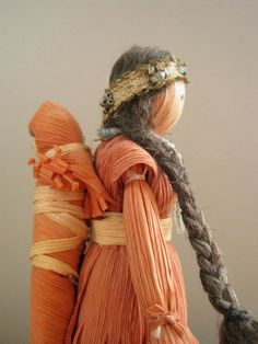 corn husk dolls | Vintage Native American Corn Husk Doll - Mother with Child. $32.00 ...