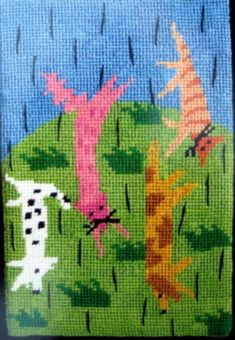 Jennifer Pudney Needlepoint<BR>Raining Cats and Dogs