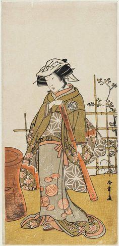 勝川春章: Actor Segawa Kikunojo III as Onami - ボストン美術館 Kultura, Drawing Style, Japanese Culture, Asian, Actors, Drawings, Historia, Japanese Prints, Handicraft