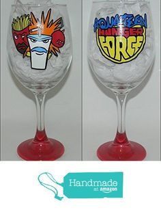 Aqua Teen Hunger Force wine glass from Custom Creations by Danielle LLC https://www.amazon.com/dp/B0163GZ78E/ref=hnd_sw_r_pi_dp_gNiVybQBEGWBW #handmadeatamazon