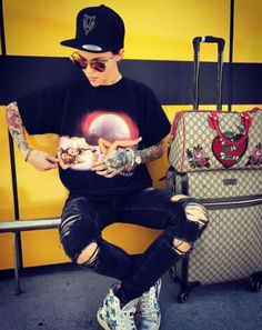 Travel in style with limited edition Gucci like Ruby Rose #DailyMail Click 'Visit' to buy now