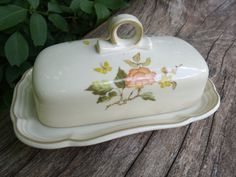 Ceramic Vintage Butter Dish by TymelessTrinkets on Etsy, $28.00