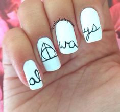 Harry Potter nails!! ⚡️ #nailart