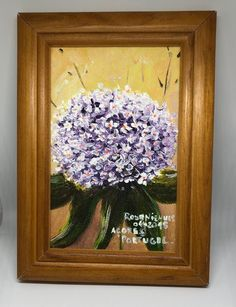 Hortensias Acrylic on Canvas Painting with frame included Online Shopping, Canvas, Frame, Painting, Home Decor, Peace, Hydrangeas, Picture Frame, Net Shopping