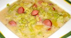 A version of the Paloc leves… with Savoy Cabbage Frankfurt, Soup Recipes, Diet Recipes, Cooking Recipes, Smoothie Fruit, Hungarian Recipes, Hungarian Food, Tasty, Yummy Food