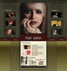 40 Hair Salon Website Template
