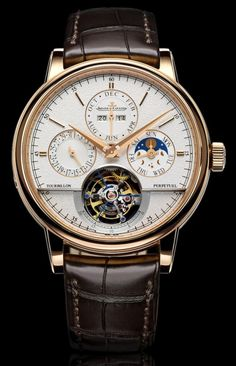 Luxury Watches For Mens : Jaeger-LeCoultre Master Grande Tradition Tourbillon Cylindrique a Quantieme Perpetuel Watch Dream Watches, Fine Watches, Cool Watches, Men's Watches, Stylish Watches, Luxury Watches For Men, Patek Philippe, Jeager Le Coultre, Rolex