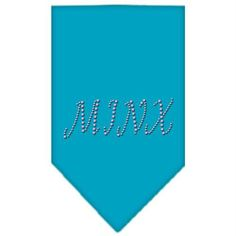 Minx Rhinestone Bandana Turquoise Small