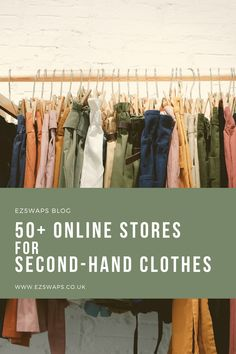 Looking to help the end of fast fashion? Shop second-hand! I've collated a list of over 50 online sites that sell second-hand clothes and accessories in the UK and the US as well as internationally. Second Hand Clothes Online, Clothes Online Uk, Second Hand Stores, Clothing Shopping Sites, Best Online Shopping Sites, Online Sites, Sustainable Clothing, Sustainable Living, Vintage Thrift Stores