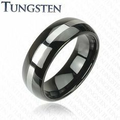 8mm Black IP Tungsten Carbide Ring With Polish Center Stripe Design Wedding Band Ring; Comes With Free Gift Box Jinique. $18.99. High Quality Tungsten Ring. Comes with Free Gift Box. Comfort Fit. Band Width: 8mm
