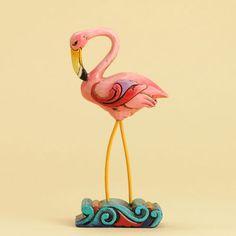 Jim Shore Mini Flamingo Figurine