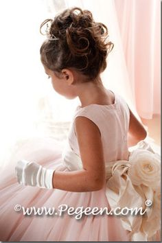 Our Grande Wedding and Flower Girl Dress of the Year with our Pegeen Signature Bustle from the Couture Collection style 402  available in 200 colors of silk from infants through plus size. Wedding Planner David Tutera