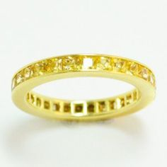 Lot # 28: Yellow Sapphire Eternity Band.  *NO RESERVE* Gold Rush Pays Auction Rodeo: July 30th at 2pm EST