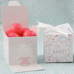 Oh Baby Girl Gender Reveal Favor Boxes