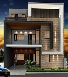 Modern house plans offer a great alternative to the more traditional styles.Unlike age-old properties, new apartments and homes are built to optimize the comfort of modern housing. Modern Exterior House Designs, Modern Architecture House, Modern House Plans, Modern House Design, Exterior Design, Architecture Design, Cool House Designs, Duplex House Plans, 2 Storey House Design