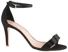 J.Crew Satin bow high-heel sandals on shopstyle.com