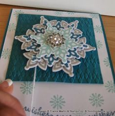 Spiner Yo-Yo card with Stampin Up! Festive Flurry   Video