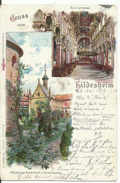 Gruss aus Hildesheim 1899 Souvenir Postcard Germany by StarPower99, $14.00
