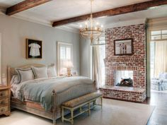 HGTV Remodels has bedroom pictures with interesting architectural details like exposed wooden beams, wainscoting and paneling on HGTV.com.