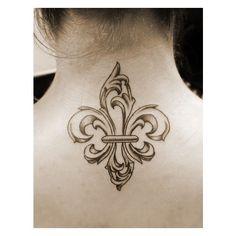 fleur de lis tattoo ❤ liked on Polyvore