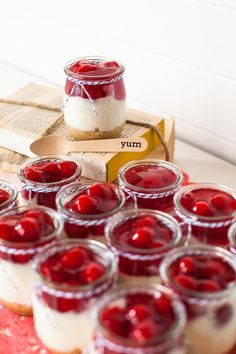 DIY desserts- the perfect little treat at any event.  Fill cute mason jars with your favorite ice cream, jello, parfait, etc!